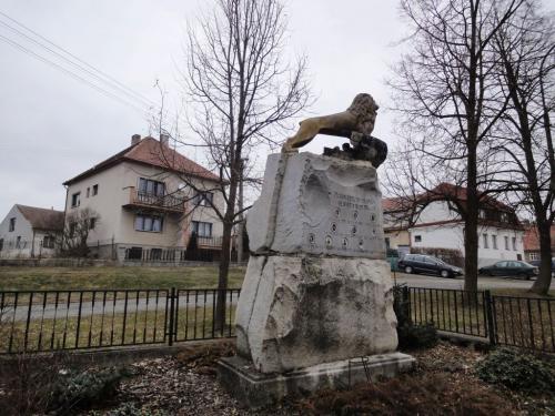 Střížovice - pomník, původní stav