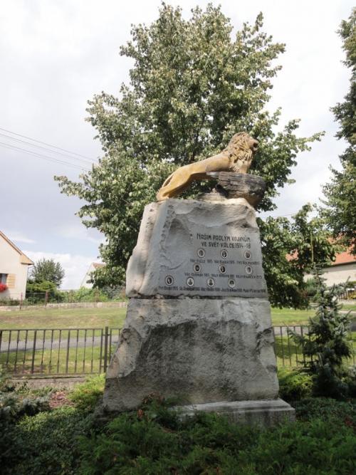 Střížovice - pomník, stav poobnově