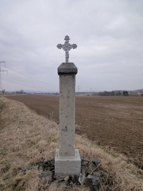 Střížovice - boží muka přicestě doChouzov, původní stav